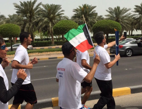 Official start of 1st USIP World Police Games at Torch ceremony in Kuwait