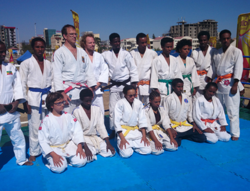 "Judo for Ethiopians"" is running forward"