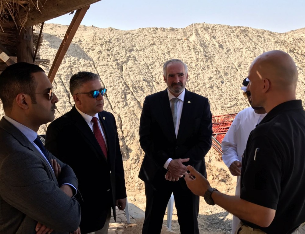 USIP delegation attend tactical shooting training in UAE
