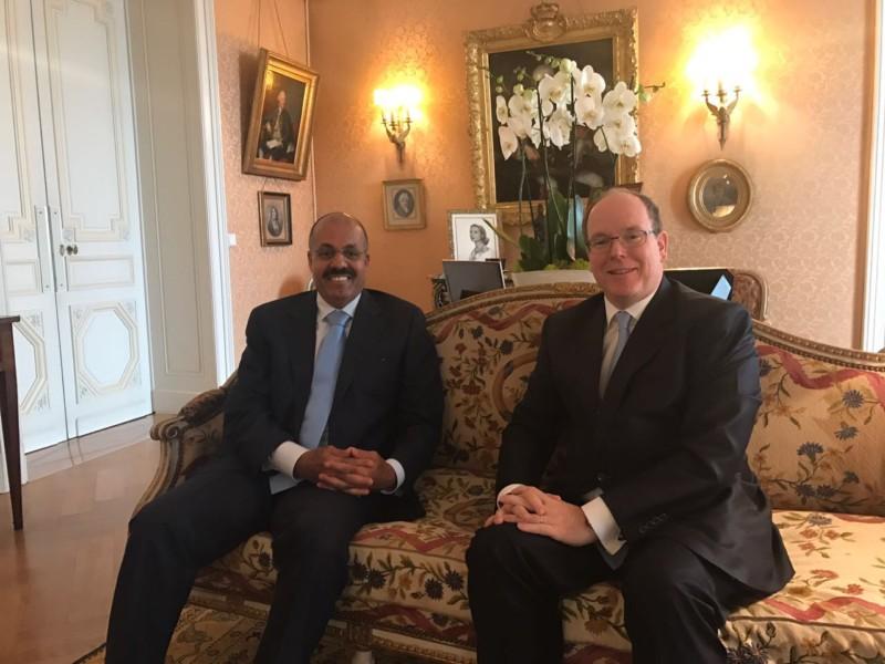 USIP President meets Prince Albert II of Monaco
