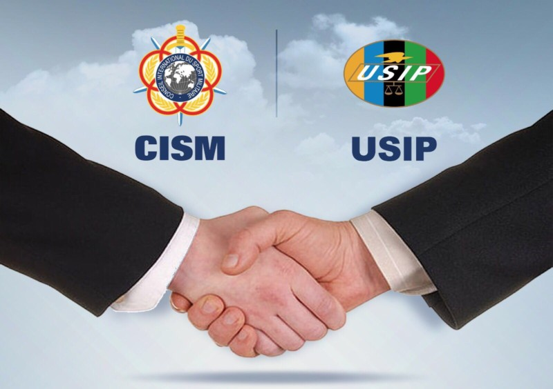 CISM and USIP shake hands