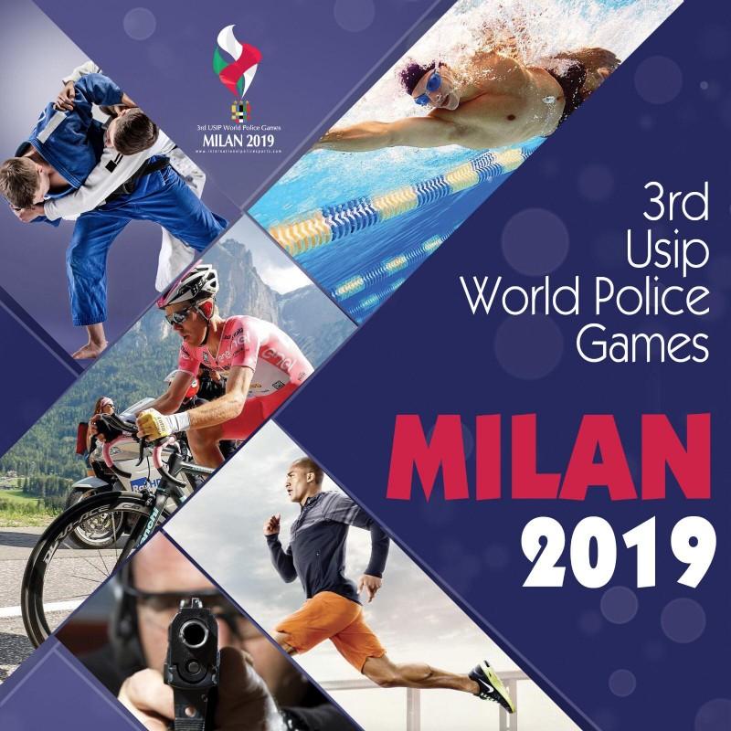 poster 3nd USIP World Police Games Milan 2019