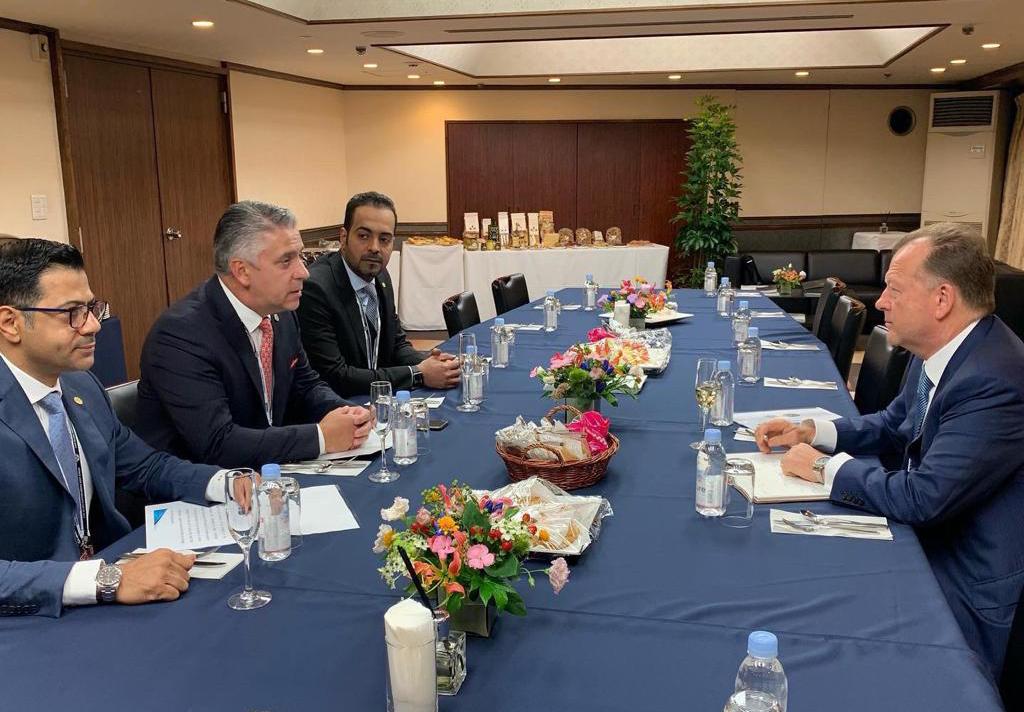 USIP delegation meets IJF President in Japan